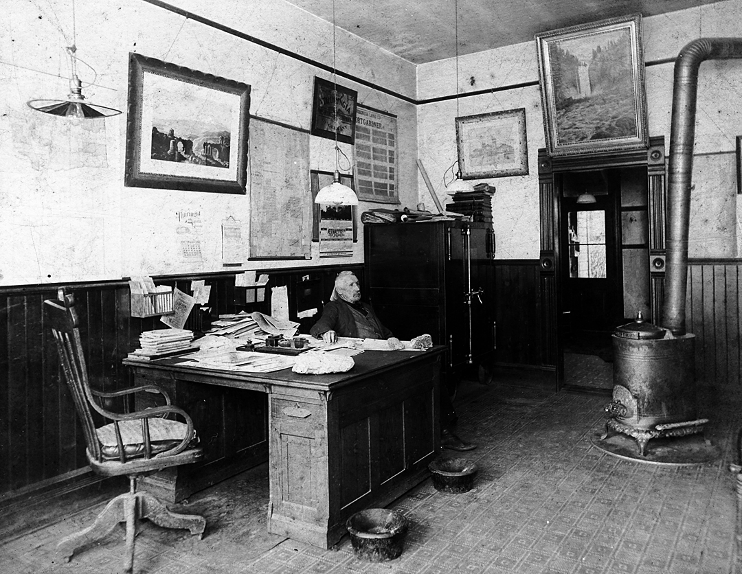 e. c. ferguson in his office, 1900